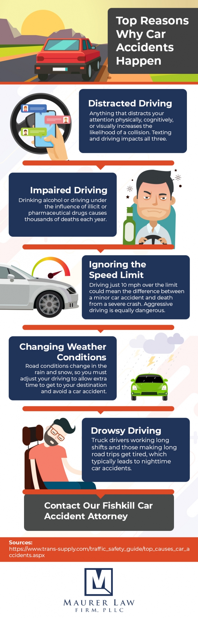 Infographic outlines the reasons behind car accidents in Fishkill and Upstate New York