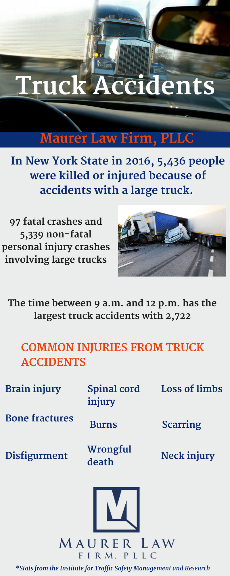 infographic truck accidents fishkill new york personal injury attorney