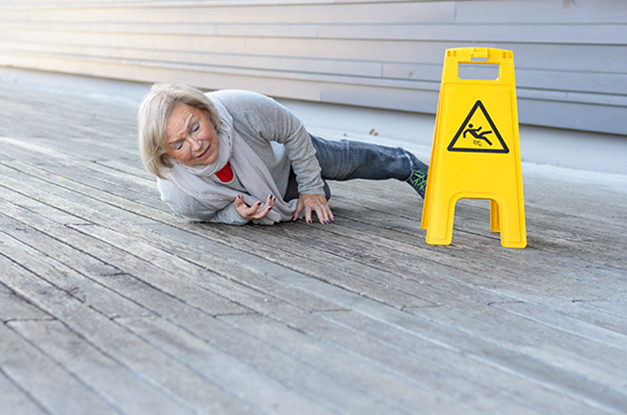 Fishkill woman falls on property and files premises liability claim.