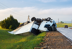 Rollover truck accident in Fishkill, New York